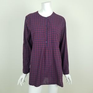 Old Navy Blue & Red Plaid Tunic Top Size Large